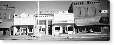 Store Fronts, Main Street, Small Town Canvas Print by Panoramic Images