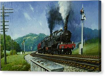 Storming Dainton Canvas Print by Mike  Jeffries