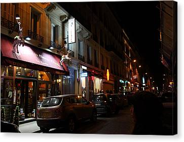 Street Scenes - Paris France - 011321 Canvas Print by DC Photographer
