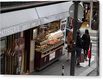 Street Scenes - Paris France - 011336 Canvas Print by DC Photographer
