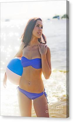 Summer Sun And Beach Fun Canvas Print by Jorgo Photography - Wall Art Gallery