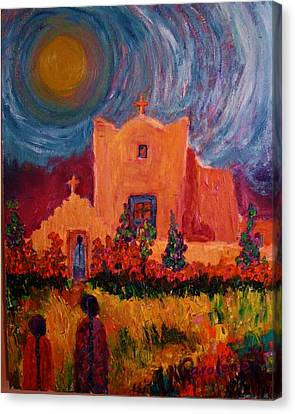 Sunday Morning In New Mexico Canvas Print by Carolene Of Taos