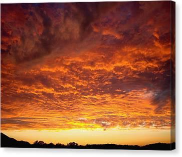 Sunset Ablaze Canvas Print by James Hammen