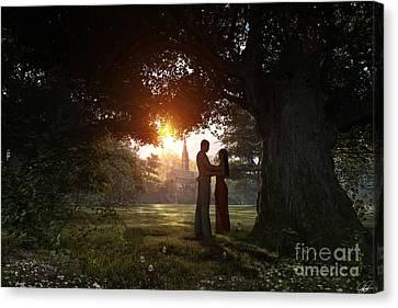 Sunset Lovers Canvas Print by Dominic Davison