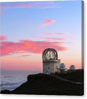Sunset Over Haleakala Observatories Canvas Print by Babak Tafreshi