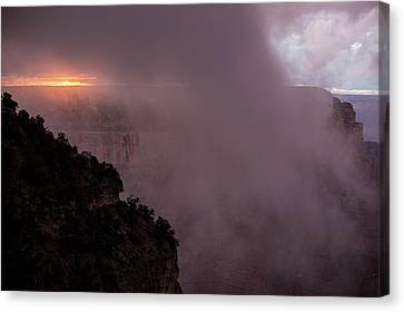 Sunset Over The Grand Canyon Canvas Print by Jim West