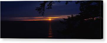 Sunset Over The Sea, Strait Of Juan De Canvas Print by Panoramic Images