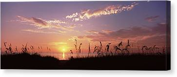 Sunset Over The Sea, Venice Beach Canvas Print by Panoramic Images