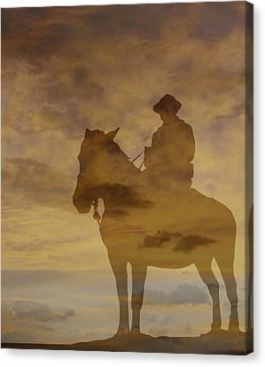 Sunset Rider Canvas Print by Randy Steele