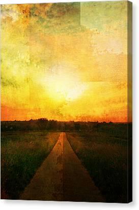 Sunset Road Canvas Print by Brett Pfister