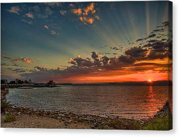 Sunset Streaks Canvas Print by Mike Horvath