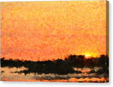 Sunset Canvas Print by Toppart Sweden