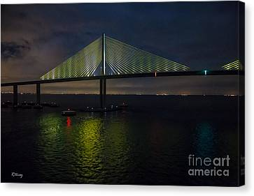 Sunshine Skyway Bridge Tampa Florida Canvas Print by Rene Triay Photography