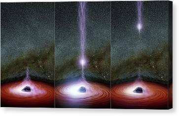 Supermassive Black Hole Corona Canvas Print by Nasa/jpl-caltech