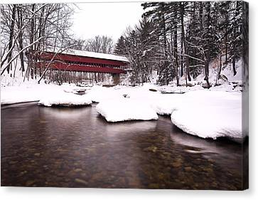 Swift River Bridge Canvas Print by Eric Gendron