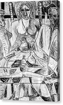 Table Talk Canvas Print by Robert Daniels