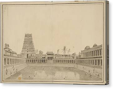 Tank In The Shiva Temple Canvas Print by British Library