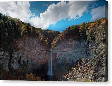 Taughannock Falls Ithaca New York Canvas Print by Paul Ge