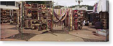 Textile Products In A Market, Ecuador Canvas Print by Panoramic Images