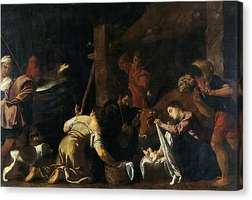 The Adoration Of The Shepherds Canvas Print by Pedro Orrente