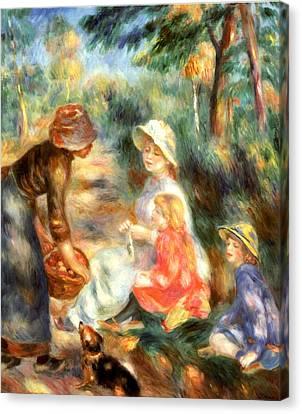 The Apple Seller Canvas Print by Pierre-Auguste Renoir
