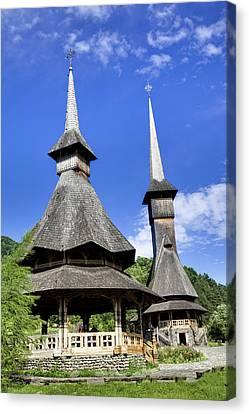 The Barsana Monastery Romania Canvas Print by Martin Zwick