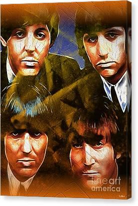 The Beatles Canvas Print by Daniel Janda