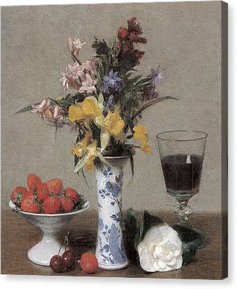 The Betrothal Still Life Canvas Print by Henri Fantin-Latour