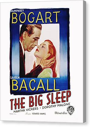 The Big Sleep Movie Poster Bogart Bacall Canvas Print by MMG Archive Prints
