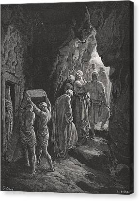 The Burial Of Sarah Canvas Print by Gustave Dore