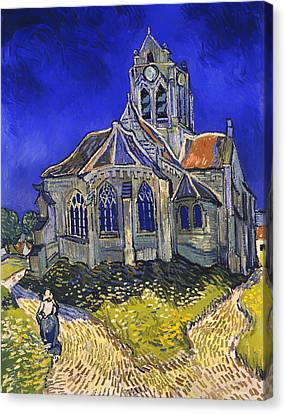 The Church In Auvers-sur-oise Canvas Print by Mountain Dreams