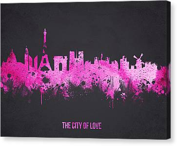 The City Of Love Canvas Print by Aged Pixel