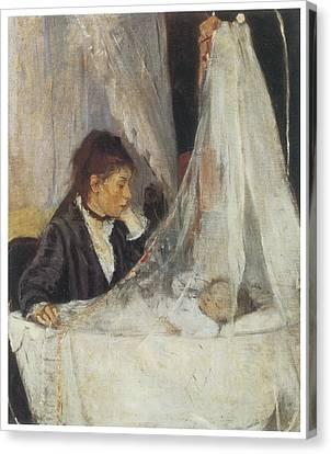 The Cradle Canvas Print by Berthe Morisot