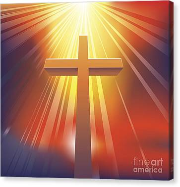 The Cross Canvas Print by Christos Georghiou