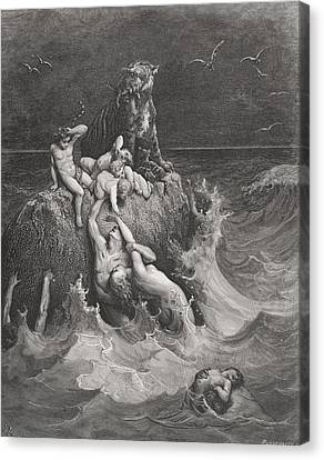 The Deluge Canvas Print by Gustave Dore