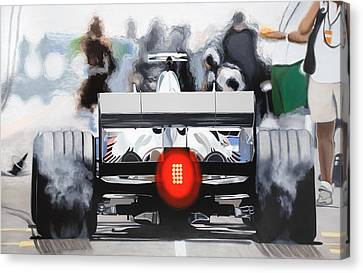 The F1 Burger Canvas Print by Marcella Lassen