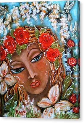 The Fairies In Merlynn's Garden Canvas Print by Maya Telford