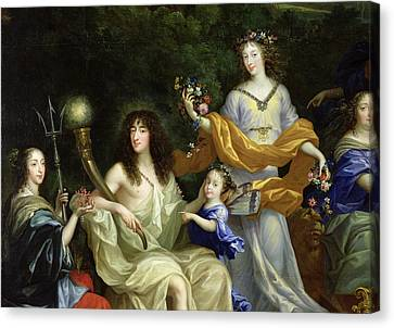 The Family Of Louis Xiv 1638-1715 1670 Oil On Canvas Detail Of 60094 Canvas Print by Jean Nocret