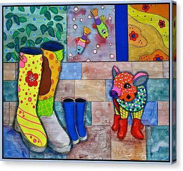 The Family Canvas Print by Raela K
