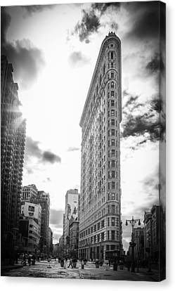 The Famous Flatiron Building - New York City Canvas Print by Erin Cadigan