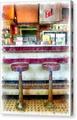 The Four Aces Diner Canvas Print by Edward Fielding
