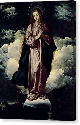 The Immaculate Conception Canvas Print by Diego Rodriguez de Silva y Velazquez