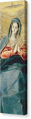 The Immaculate Conception  Canvas Print by El Greco Domenico Theotocopuli