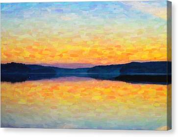 The Lake Canvas Print by Toppart Sweden