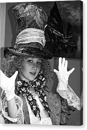 The Mad Hatter Bw Canvas Print by Norman Johnson
