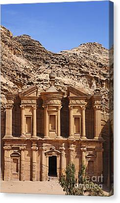 The Monastery At Petra In Jordan Canvas Print by Robert Preston