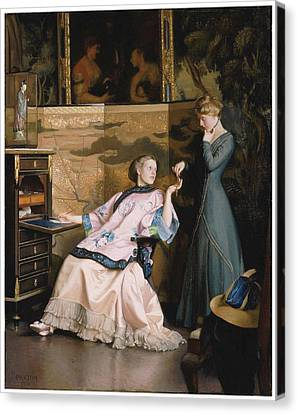 The New Necklace Canvas Print by William McGregor Paxton