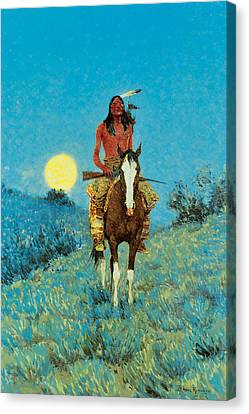 The Outlier Canvas Print by Frederic Remington