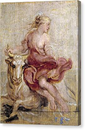 The Rape Of Europa Canvas Print by Peter Paul Rubens