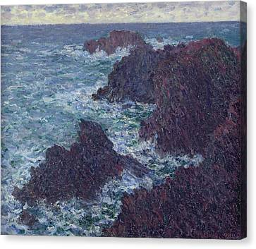 The Rocks At Belle-ile Canvas Print by Claude Monet